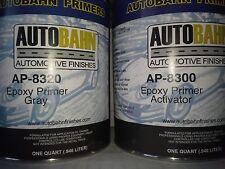 Epoxy Primer / Sealer and Catalyst Gray 2 Quart Kit Direct to Metal Car Auto Kit