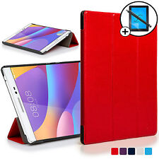 Red Smart Case Cover Huawei Honor Pad 2 / MediaPad T2 8.0 Pro Scrn Prot & Stylus
