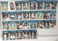 1986 Topps Detroit Tigers Team Set of 29 Baseball Cards