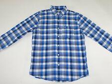 Hollister Men's Button Front Shirt Medium NWT Long Sleeves Blue White Plaid M LS