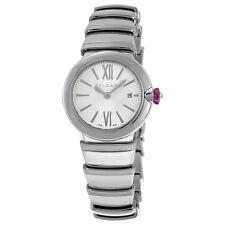 Bvlgari LVCEA Silver Opaline Diamond Dial Stainless Steel Ladies Watch 102195