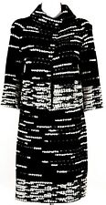 ST.JOHN Amazing Womens Knit Suit Black White Boucle Jacket & Skirt Sz 4