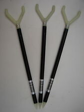 "3 Triple Crown Glow Telescopic Fishin Stix 12""-30"" Bank Rod Holder Fishing Stick"