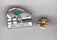 England v Russia ( Euros 2016 ) - lapel badge butterfly fitting