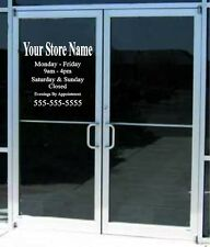 22x17 Custom Business Store Hours Sign Vinyl Decal Sticker Window Door Glass