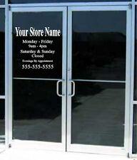 22x17 Custom Business Store Hours Sign Vinyl Decal Sticker Window Door Glass