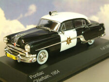 Whitebox 1/43 1954 Pontiac Chieftain Coche de Policía Patrulla Carretera de California WB189