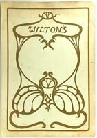 Vintage Original Menu WILTON'S OYSTER PURVEYORS Restaurant Bar London