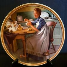 """Norman Rockwell Collector Plate """"Working In The Kitchen"""", Knowles China"""