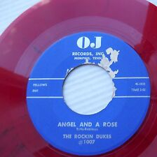 the ROCKIN DUKES red vinyl repro 45 MY BABY LEFT ME / ANGEL and A ROSE vg++ m671