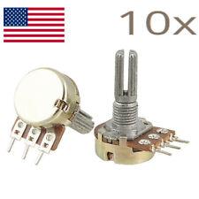 10pc 100k Potentiometers Variable Resistors Usa Seller