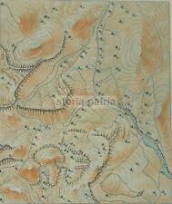 GEOLOGIA_TERRENI MONTUOSI E ROCCIOSI_ANTICA CARTOGRAFIA_MAPPA TOPOGRAFICA_MARCHE