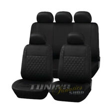 Leder Kunstleder Sitzbezug Sitzbezüge Schwarz Karo passend für BMW und Mini