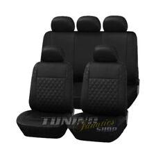 Premium Leder Kunstleder Sitzbezug Sitzbezüge Schwarz Karo für viele Fahrzeuge