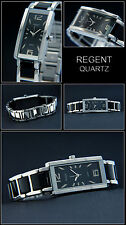 Elegante & DEPORTIVO MUJER Regent Reloj Cerámica LOOCK ACERO inox. en negro