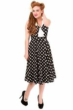 Polyester Casual Spotted Collar Dresses for Women