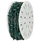 1000' C9 Christmas Light Spool Green Wire 1000 Sockets SPT-1 Wire