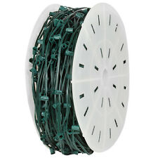 1000' C7 Christmas Light Spool Green Wire 1000 Sockets SPT-1 Wire