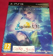 FINAL FANTASY X FINAL FANTASY X-2 HD REMASTER EDITION LIMITEE SONY PS3 NEUF