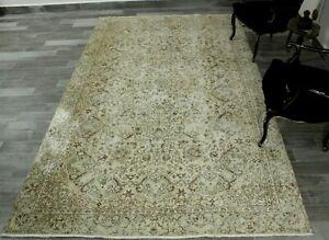Oriental Anatolian Wool Carpet Vintage Turkish Nomadic Unique Area Rug 6x10 ft