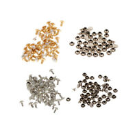 100pcs Pearls Half Dome Round Rivets Stud for Leathercraft DIY Craft Accessories