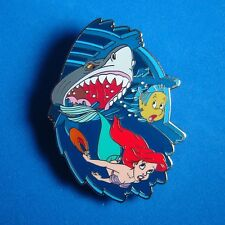Ariel Chased by Shark Flounder Disney Auctions Pin DA LE The Little Mermaid RARE