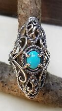 Carolyn Pollack Sterling Silver Sleeping Beauty Turquoise X Ring 7