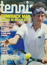 Tennis Magazine Jan 1987 John McEnroe Comeback Cover - Stan Smith - VG