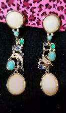 Betsey Johnson colorful Alloy Rhinestone Dolphi Dangle Earrings Fashion  Jewelry