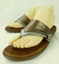 Gentle Souls Wos Sandals Shoes Kenneth Cole GOT IT US 8 Silver Brown Thong 1021