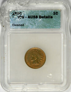1900 INDIAN HEAD CENT ~ ICG AU 58 DETAILS ~ PRICED RIGHT!
