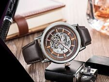 KENNETH COLE MEN'S AUTOMATIC SKELETON LUXURY BROWN WATCH KC1718
