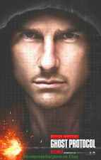 MISSION IMPOSSIBLE 4 GHOST PROTOCOL MOVIE POSTER DS 27x40 ADVANCE TOM CRUISE