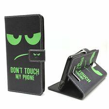 Schutz Hülle für Handy Xiaomi Redmi Note 3 Dont Touch Grün Tasche Wallet Cover