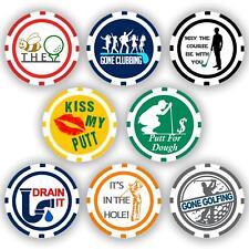 Golf Ball Marker Poker Chips, 8 chips (11.5 gram chips)