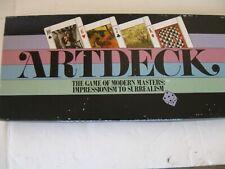 Artdeck The Game of Modern Masters: Impressionism to Surrealism Vintage 1984