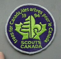 Scouts Canada cloth badge, 3 inch diameter, trees for Canada.