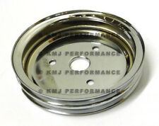 NEW SBC 327 350 Small Block Chevy 2 Groove Chrome Crank Pulley Short Water Pump