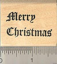Merry Christmas Rubber Stamp E5204 WM