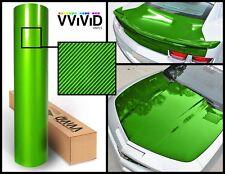 Green carbon hi gloss tech art (not printed) 1ft x 5ft laminated vinyl car wrap
