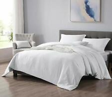 EXQ Home White Duvet Cover Set Twin Size 3 Pieces, Hotel Collection Vintage Bedd