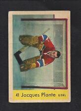 1959 Parkhurst #41 Jacques Plante, HOF, Vintage Montreal Canadiens NHL 1959-60