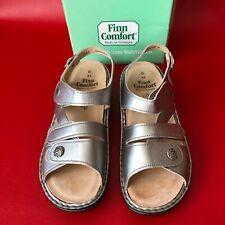 Finn Comfort Gomera Silver Womens Ortho Friendly Classic Sandals Germany 41D NIB