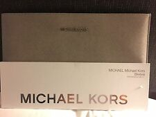 GENUINE MICHAEL KORS 11 INCH MAC BOOK AIR SLEEVE NEW PEARL GREY SAFFRON LEATHER