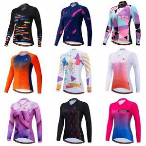 Women's Cycling Jersey Clothing Bicycle Sportswear Long Sleeve Bike Shirt X89