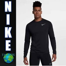 Nike Men's Size Large Breathe Tailwind Long Sleeve Running Top 921813-010 Black