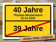 Schild 40. Geburtstag Bild Deko Geburtstagsfeier - Eigener Text Geschenk