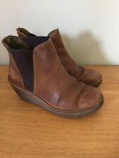 Ladies Size 36 Brown Wedge Fly London Ankle Boots