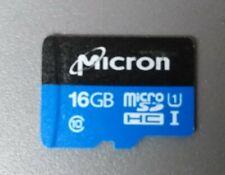 Micron 16 GB micro SD HC Speicherkarte Class 10