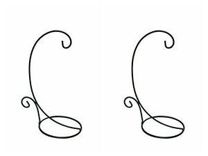 """Metal Tabletop Hanging Candle Lantern Tea Light Stand Hook Holder 18""""H Set Of 2"""